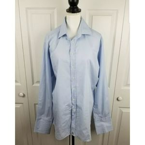 Burberry Button Down French Cuff Link Dress Shirt